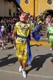 Bailarín en Cajabamba, Perú del folklore Imagenes de archivo