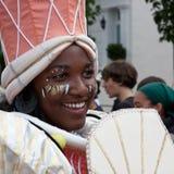 Bailarín en el carnaval 2009 de Notting Hill Foto de archivo libre de regalías