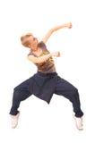Bailarín en el sitio blanco Fotos de archivo libres de regalías
