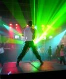 Bailarín en la acción Imágenes de archivo libres de regalías