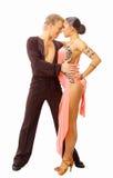 Bailarín en la acción aislada Imagen de archivo