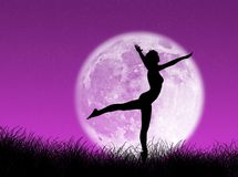 Bailarín en la luna libre illustration