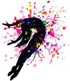 Bailarín en las salpicaduras brillantes libre illustration
