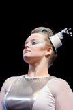 Bailarín en maquillaje de la etapa Imágenes de archivo libres de regalías
