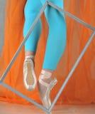 Bailarín en pointe del ballet fotografía de archivo libre de regalías