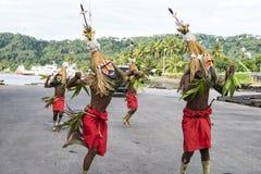 Bailarín en Rabaul, Papúa Nueva Guinea foto de archivo libre de regalías
