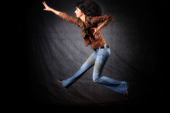 Bailarín en salto fotografía de archivo
