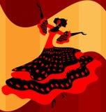 Bailarín español de la mujer ilustración del vector