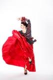 Bailarín español de sexo femenino del flamenco Foto de archivo libre de regalías