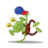 Bailarín extranjero de la rotura de la historieta divertida Imagen de archivo