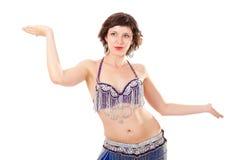 Bailarín Go-go en actitud extendida fotografía de archivo