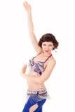 Bailarín Go-go en la acción fotos de archivo libres de regalías