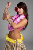 Bailarín hawaiano de Hula Imagenes de archivo