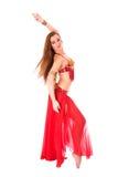 Bailarín hermoso de la muchacha de la danza de vientre Fotos de archivo libres de regalías