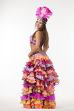 Bailarín hermoso del carnaval, traje asombroso Foto de archivo