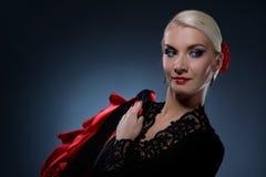 Bailarín hermoso del flamenco fotos de archivo libres de regalías