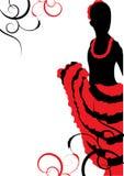 Bailarín hermoso del flamenco ilustración del vector