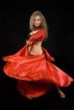 Bailarín hermoso en traje del este. Fotos de archivo libres de regalías