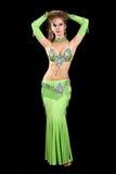 Bailarín hermoso en traje del este. Fotografía de archivo libre de regalías