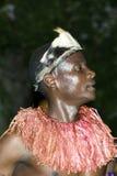 Bailarín indígena en África Fotos de archivo libres de regalías