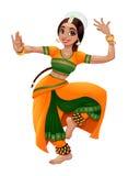Bailarín indio ilustración del vector