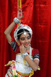 Bailarín indio de los adolescentes Fotos de archivo libres de regalías