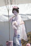 Bailarín japonés Foto de archivo