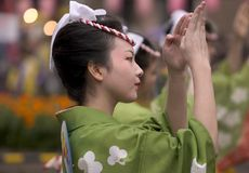 Bailarín japonés del festival Fotos de archivo