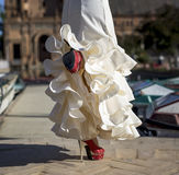 Bailarín joven del flamenco de la elegancia Fotografía de archivo