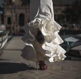Bailarín joven del flamenco de la elegancia Imágenes de archivo libres de regalías