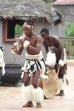 Bailarín joven del Zulú fotografía de archivo