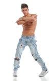 Bailarín joven descubierto atractivo Imagen de archivo