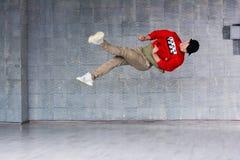 Bailarín joven en el salto Imagen de archivo libre de regalías