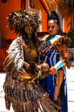 Bailarín maya de la celebración Fotografía de archivo