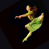 Bailarín moderno bastante chino Foto de archivo