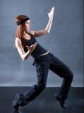 Bailarín moderno del estilo. Foto de archivo