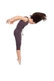 Bailarín moderno del estilo en fondo aislado Fotografía de archivo