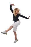 Bailarín moderno joven del salto de la cadera fotografía de archivo libre de regalías