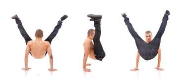 Bailarín moderno que muestra sus habilidades Foto de archivo libre de regalías