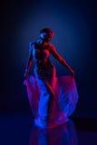 Bailarín oriental hermoso Fotografía de archivo libre de regalías