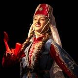 Bailarín pedagógico del conjunto de la danza de la universidad del estado armenio Fotografía de archivo libre de regalías