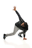 Bailarín Performing de Hip Hop del afroamericano imagenes de archivo