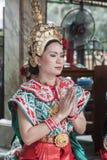 Bailarín religioso tradicional en Tailandia imágenes de archivo libres de regalías