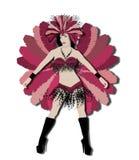 Bailarín rojo del carnaval Fotos de archivo