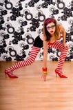 Bailarín rojo del zapato foto de archivo