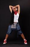 Bailarín serio en gafas de sol Fotos de archivo libres de regalías