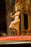 Bailarín a solas de Apsara Foto de archivo
