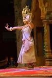 Bailarín a solas de Apsara Imagen de archivo libre de regalías