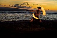 Bailarín solitario del fuego Imágenes de archivo libres de regalías
