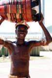 Bailarín surafricano del Zulú Foto de archivo